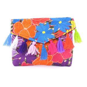 Handmade Boho Crossbody Purse Tassel Embroidered